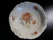 Schumann Porzellan Schale elfenbeinfarben Blumen orange Gold Vintage Deko 12,- - Flensburg