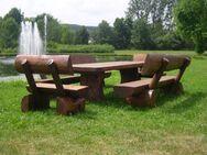 Sitzgruppe Holzgarnitur Rustikal Massiv Gartenbank Sitzbank - Wadern