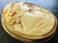 Antiker Kamee Jugendstil Anhänger u. Ring in Silber gefasst - Zorneding