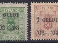 Island 20 AUR+50 AUR,1902-03,  Mi:IS D15B+D16A,Lot 480