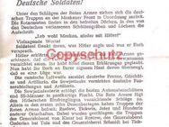 Flugblatt Kriegsfront Moskau 1941 - Seefeld (Bayern)