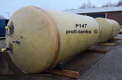 P147 gebrauchter 15.000 L Polyestertank GFK-Tank Flüssigfuttertank Wassertank Molketank Regenauffangbehälter Zisterne Lagertank stehend - Nordhorn