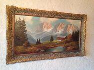 Sehr altes Ölbild im Prunkrahmen - Gladbeck