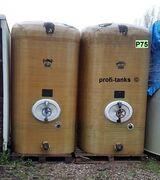 P75 gebrauchter 6.000 L Polyestertank GFK-Tank Staffelstein Rapsoeltank Melassetank Lagertank Wassertank Regenauffangtank Flüssigfuttertank Molketank