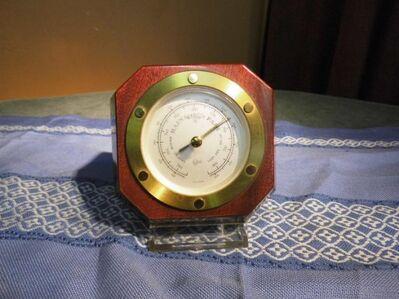 Barometer aus Mahagoniholz Barigo um 1975 / Zimmerbarometer / Wettergerät - Zeuthen