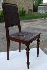 Gründerzeit Stuhl aus Nussbaum / Holzstuhl zum Aufarbeiten - um 1885