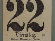 Kalenderblatt 22.3.1927 (Kaisers Geb., Goethes Todestag) - Münster
