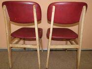 Zwei wunderschöne Stühle aus den 70er Jahren / Holzstühl mit roter Polsterung - Zeuthen