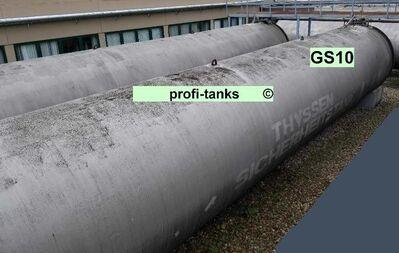 GS10 gebrauchter 100.000 L Stahltank doppelwandig Löschwassertank Lagertank Wasserzisterne Regenauffangtank ehem. Heizöltank DIN6616D - Nordhorn