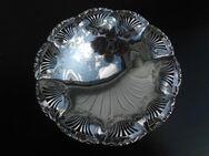 Durchbruch Metall Schale 18 cm Deko Kugelfüße silber versilbert Retro Vintage 4,- - Flensburg