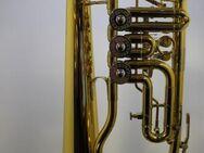 B & S Konzert - Flügelhorn. Goldlack - Einzelanfertigung. mit Tonausgleichstrigger, Neuware / OVP - Hagenburg