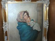 Ölbild auf Leinen, Mutter mit Kind - Planegg