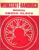 Werkstatthandbuch Honda CB 200 ab 1975