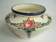 alte Vase aus Zell am Harmersbach, Zeller Keramikvase bemalt, Blumenmuster - Königsbach-Stein