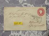 Baden 3 Kreuzer Ganzsachen  Briefumschlag 1865,Lot 84