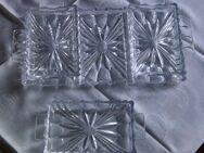 Servierplatte mit drei Servierschalen aus Bleikristall - Köln
