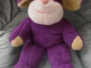 Maus mit Mütze (lila) Stofftier - Weichs