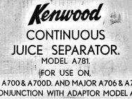 7 Kenwood Kleinteile Ersatzteile f. Fruchtsaftzentrifuge A781 - Chef A700, A700D + Major A706, A706D - Groß Gerau