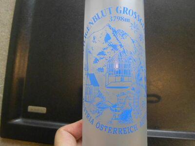 Großglockner Heiligenblut Glas Bierseidel Bierkrug Böckling Seidel 0,4 l  Bierglas satiniert Souvenir Österreich 3,- - Flensburg