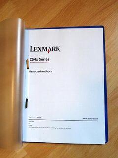 Bedienungsanleitung für Lexmark C540n, ausgedruckt - Gelsenkirchen