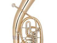 Miraphone Loimayr Tenorhorn, 4 Ventile, Mod. 47 WL4 aus Goldmessing mit Neusilberkranz und Trigger