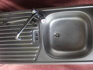 Edelstahlspüle mit einem Becken. 86 x 43cm & Wasserhahn - Bad Belzig