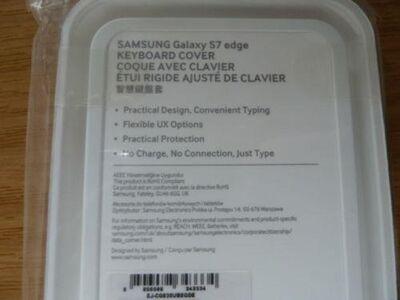 Samsung Galaxy S7 edge Keyboard Cover schwarz NEU - Essen