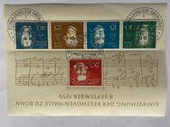 """Briefmarkenblock """"Einweihung der Beethoven-Halle zu Bonn"""" - Meckenheim"""