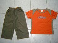 Kombi Gr. 122 128 S' Oliver Shirt + 3/4 Hose Freizeithose oliv orange - Chemnitz