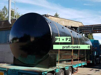 P1 gebrauchter 30.000 L Stahltank Wassertank Gülletank Jauchetank doppelwandig DIN 6616D - Nordhorn