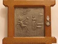 Schlüsselkästchen, Holz, mit Zinnrelief, 29 x 29 cm - Münster