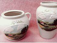Kochlöffel-Gefäß und Zwiebel-Trog mit Relieffbild - Aus Keramik - Groß Gerau