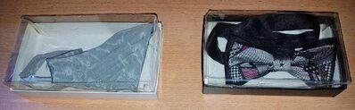 Fliege mit Hakenverschluss, Größenverstellbar + Dreieckstuch mit Strass Stein - Verden (Aller)