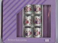 Funny Kerzen Leuchter 70er Jahre Rosenmotiv Vintage - Nürnberg