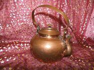 Antiker Kupferkessel, Wasserkessel Kupfer ca.1880 / Kupferkanne Schmiedearbeit - Zeuthen