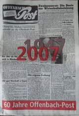 """Fundstück: Sonderausgabe """"60 Jahre Offenbach-Post"""""""