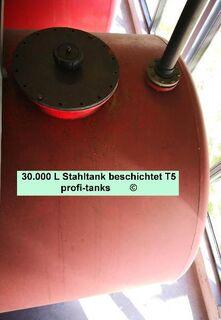 T5 gebrauchter 30.000 L Stahltank von innen beschichteter Lagertank Wassertank Speiseöltank Molketank Flüssigfuttertank Regenwassertank Gülletank - Nordhorn
