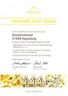 Orig. Miraphone Tenorhorn eng mit Neusilberkranz Neuware / OVP - Hagenburg