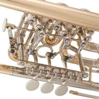 J. Scherzer Konzerttrompete, Modell 8211 Goldmessing lackiert. NEUWARE - Hagenburg